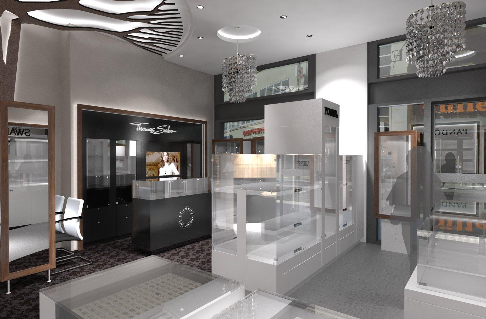 Kreuterweiss innenarchitektur f r showtime juweliere halle for Halle innenarchitektur